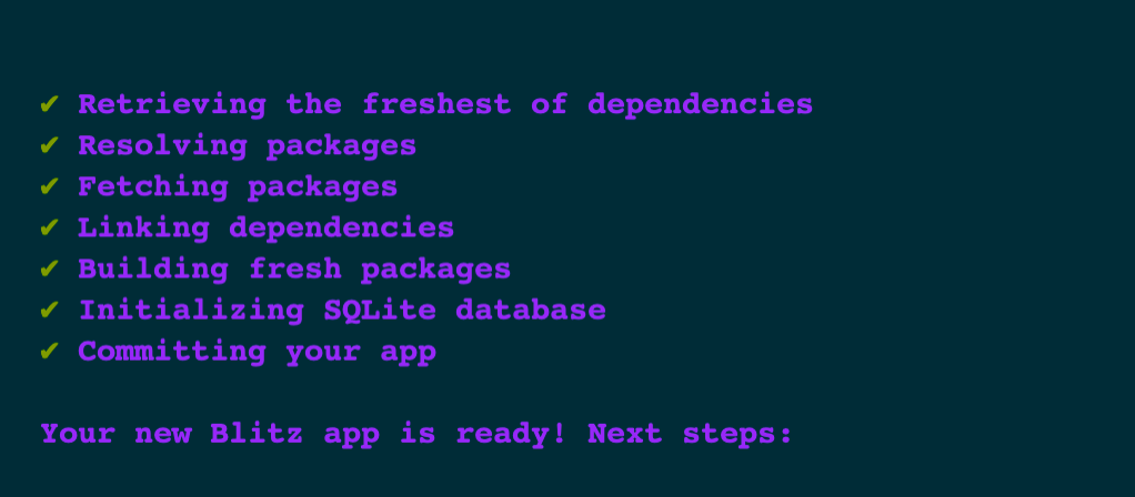 Dependencies installed