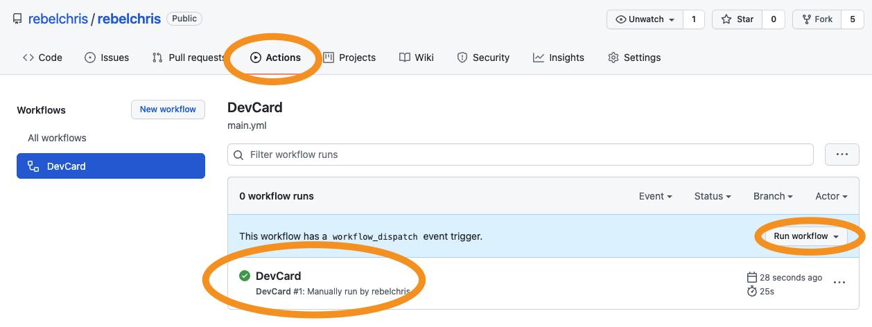 GitHub workflow done running
