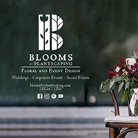 Print ad campaign for PLANTSCAPING/BLOOMS, a Cleveland-area floral and garden shop