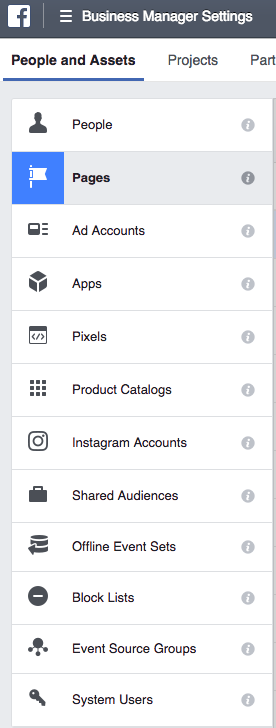 Facebook Business Manager Pages Permissions