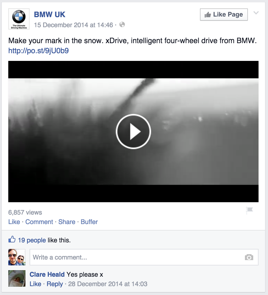 BMW UK partnered with Driftrock to create this weather-triggered campaign promoting xDrive