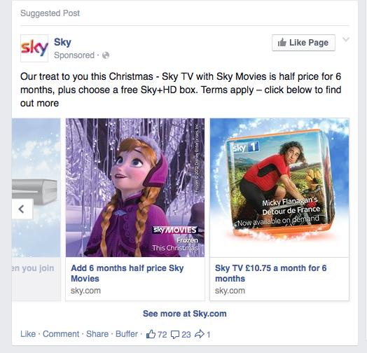 Sky carousel ad