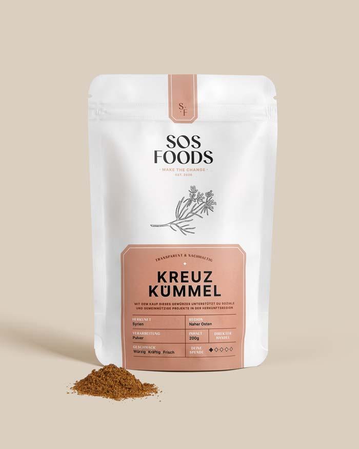 SOS Foods: Pack shot, Cumin