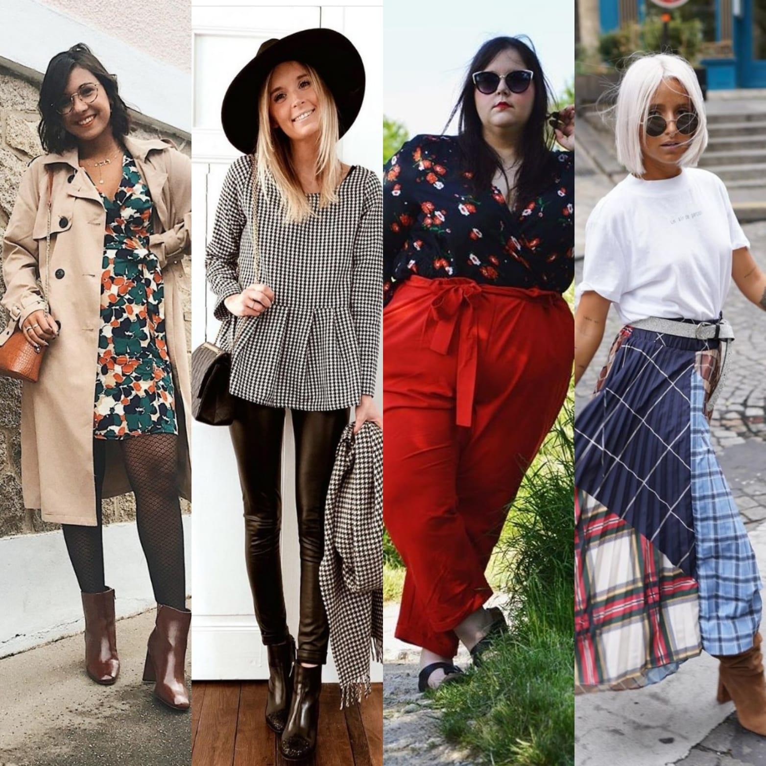 Différents styles et looks tendances pour femmes.