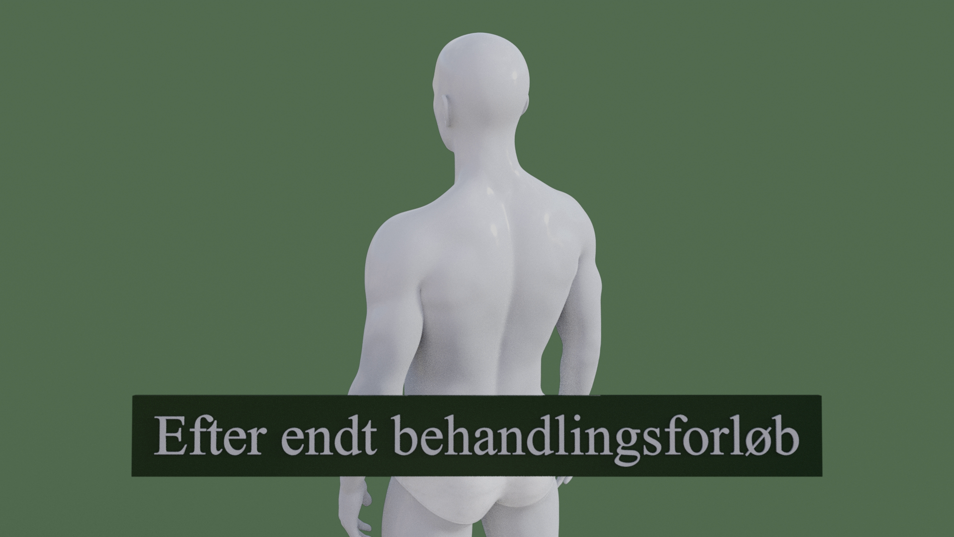 Billedet viser den samme 3D figur, men uden rygsmerter. 3D figuren er helbredt.