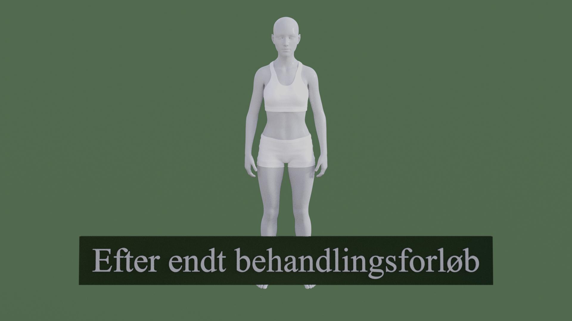 Billedet viser den samme 3D figur, men med en meget bedre kropsholdning. Figuren står meget mere rank.