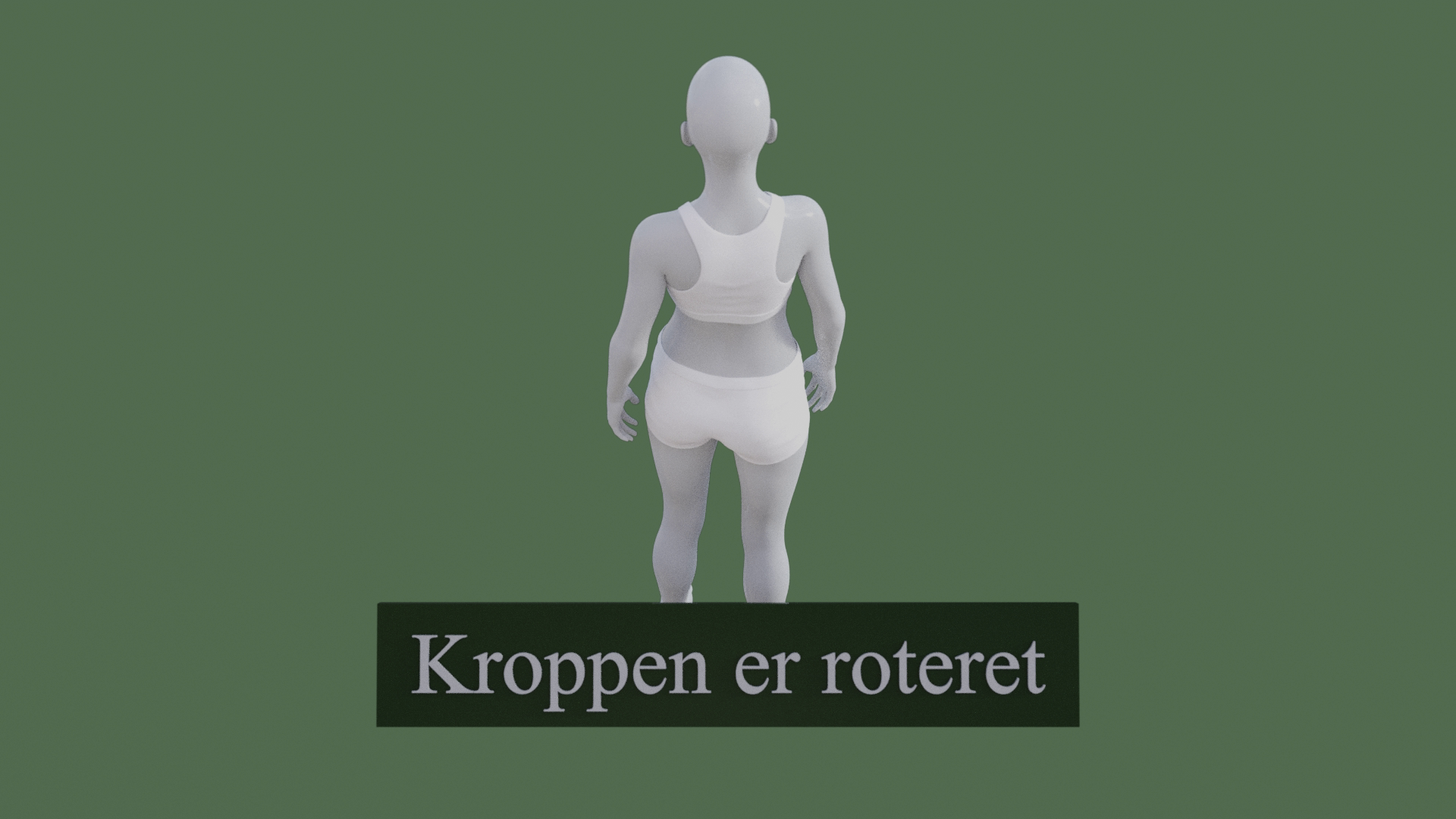 Billedet viser en 3D figur med en meget dårlig kropsholdning. Figuren har to kraftige rotationer i kroppen.