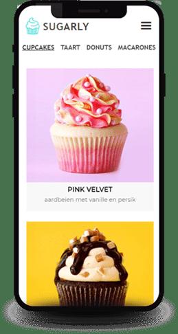 voorbeeld producten website template voor (amateur) bakkers, productverkopers en klusjesmannen