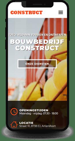voorbeeld projecten website template voor een bouwbedrijf, klusjesman, schilders, loodgieters en glazenwassers