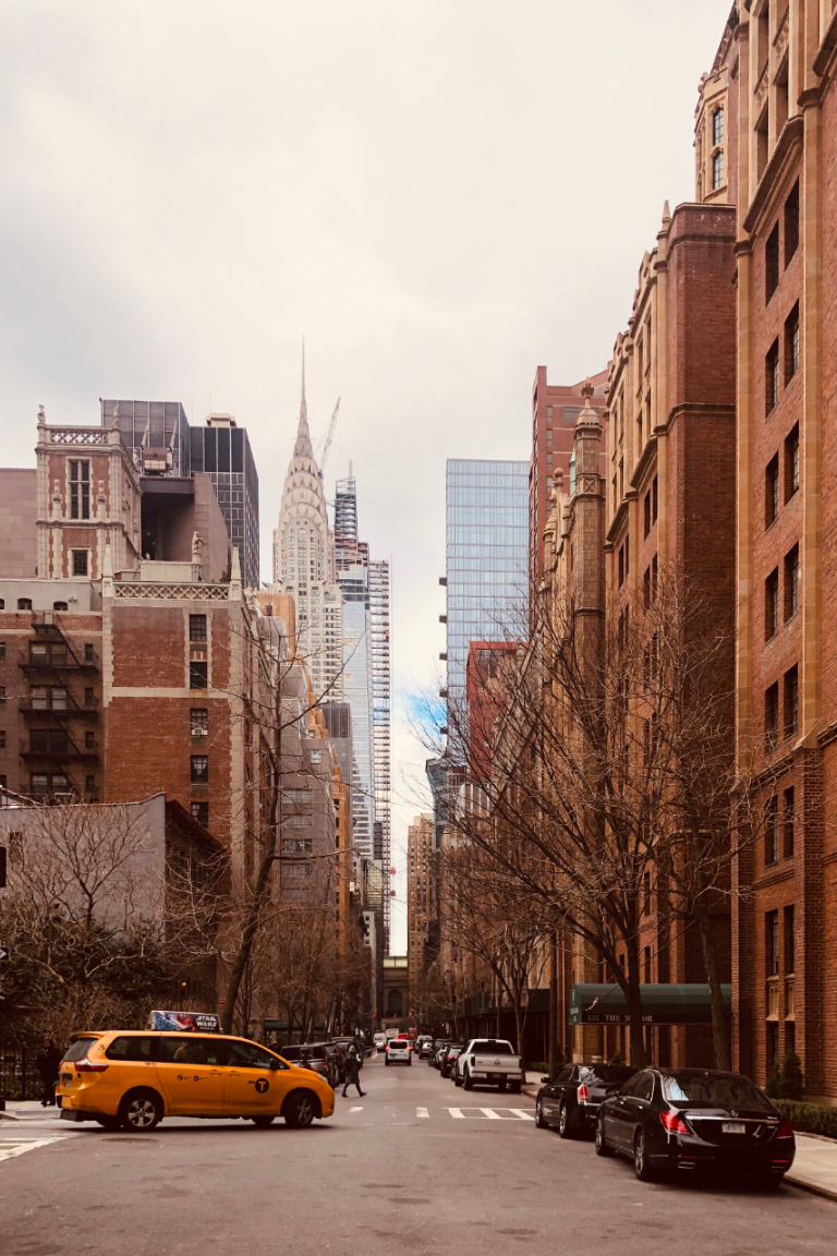 View of Chrysler Building from street