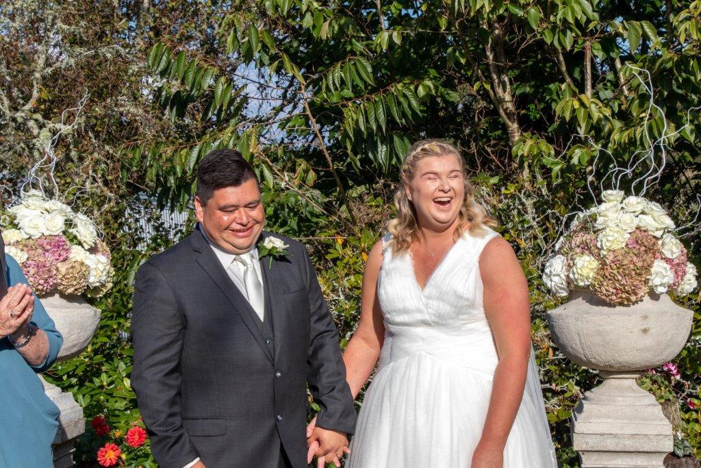 Tessa and Karl met through IDEA Services and married on Tessa's family farm in Inglewood, Taranaki.