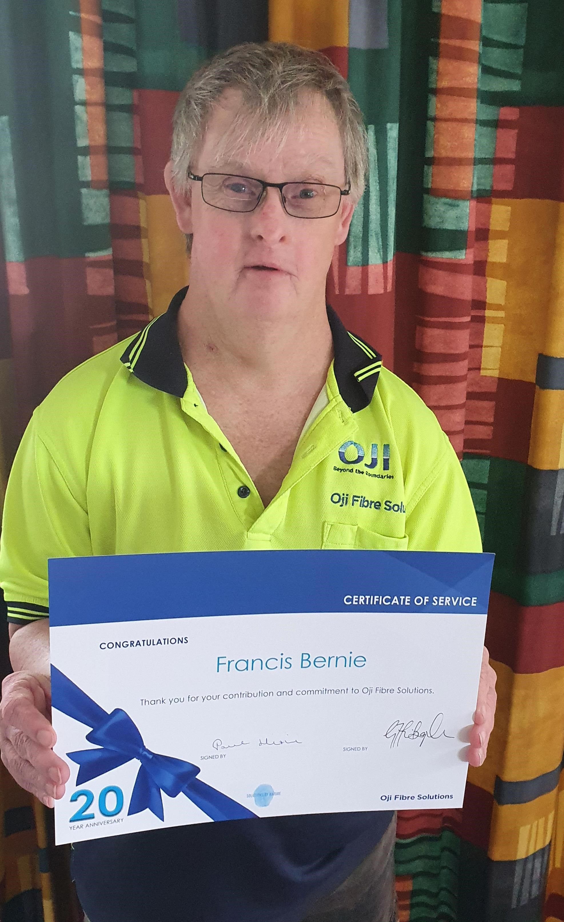 Francis Bernie is proud of his part-time role, that IDEA Services helped secure.