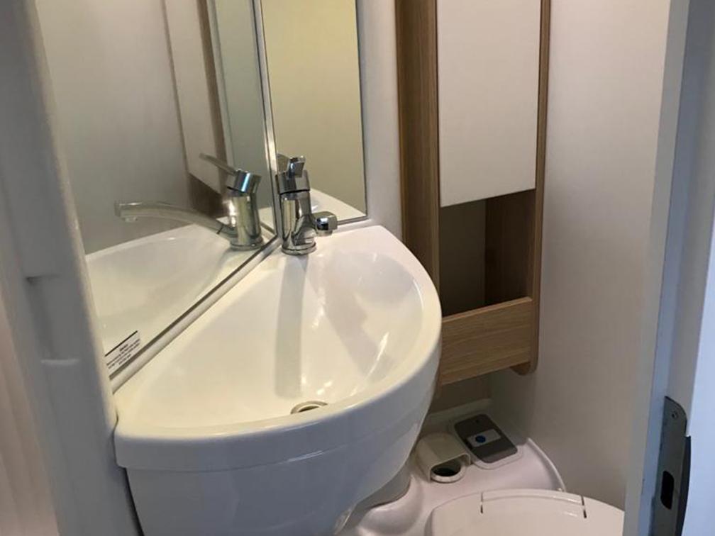 Interior of Motorhome Bathroom