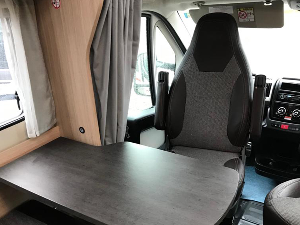 Interior of Motorhome Dining Area