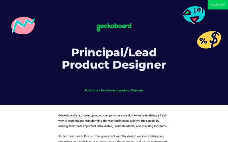 Geckoboard job post