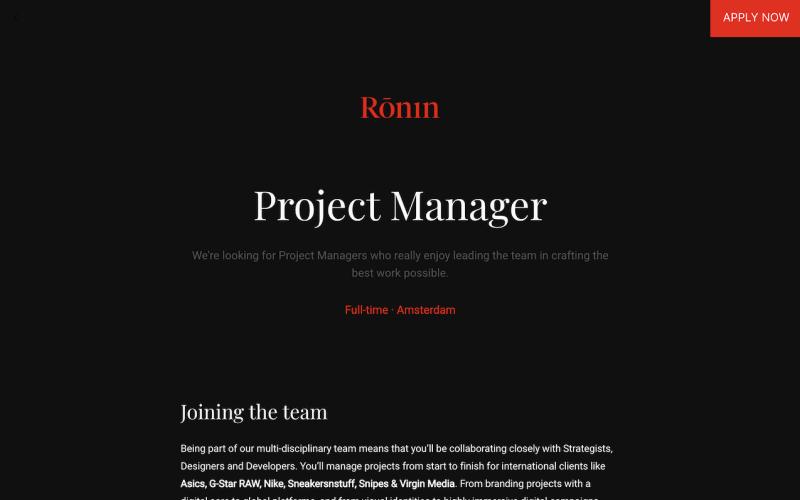 Ronin job post