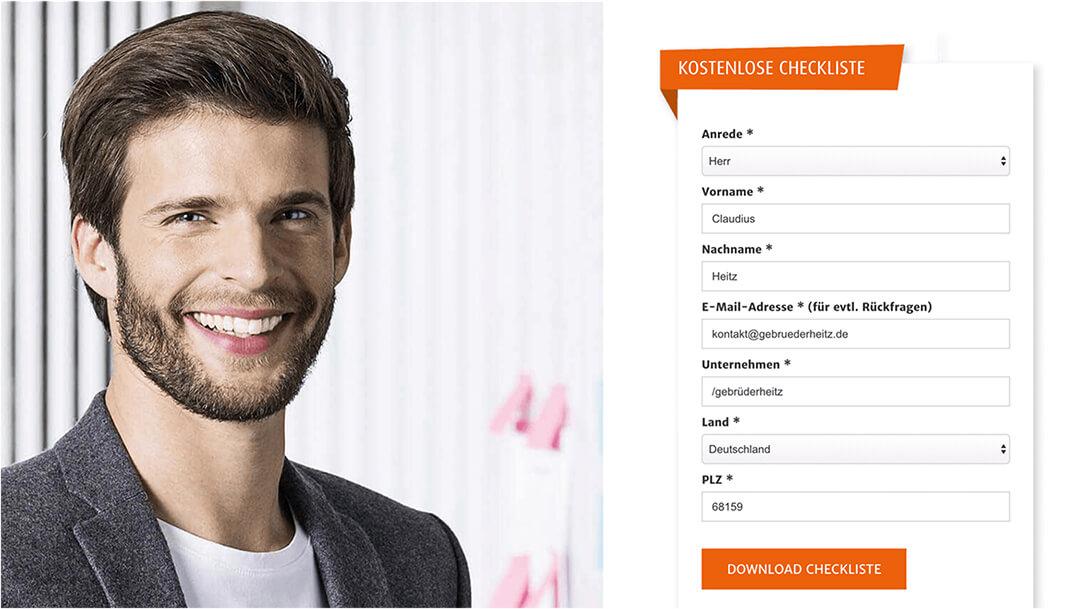 Screenshot Haufe Eloqua Website Homepage