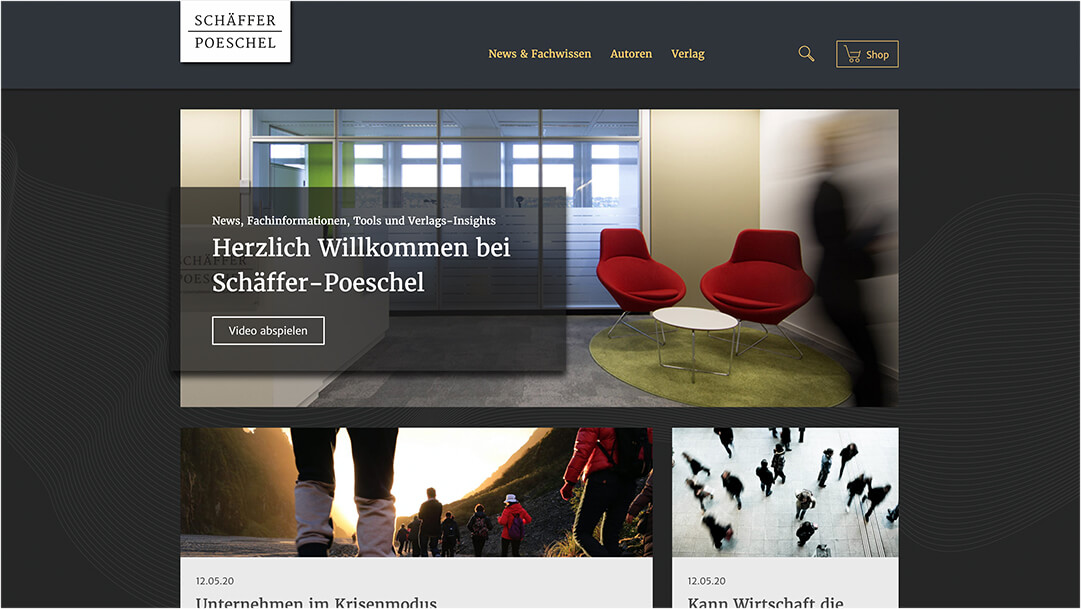 Screenshot Schäffer Pöschel Website Homepage
