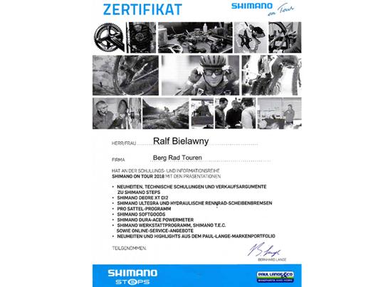 Shimano Zertifikat