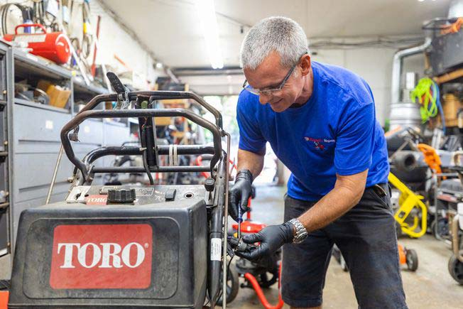 TORO snowblower repair by Blunard's Repair & Equipment