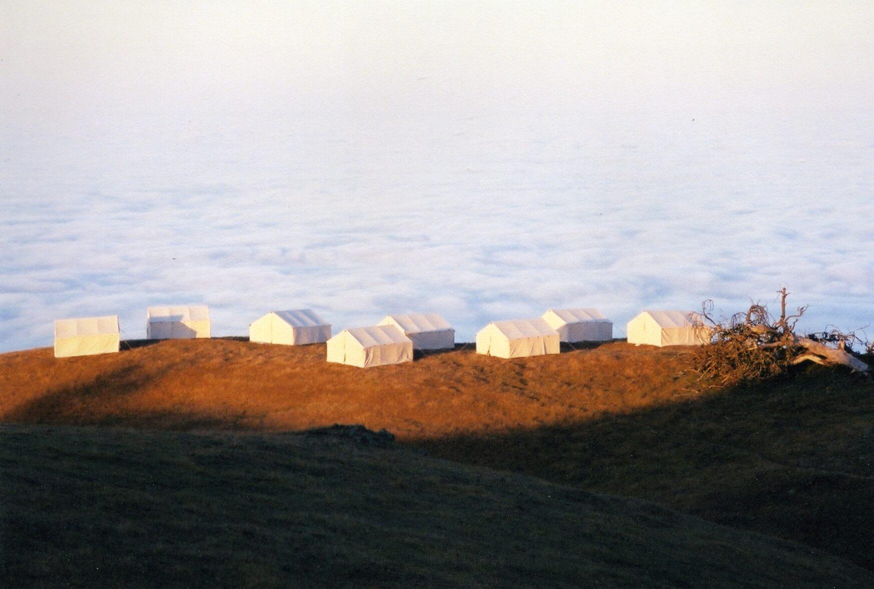 Hearst Ranch Tent Setup