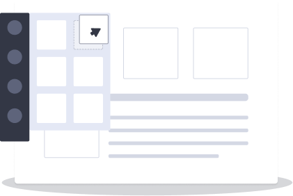 Candu's drag-and-drop UI editor allowing for easy personalization and product design.