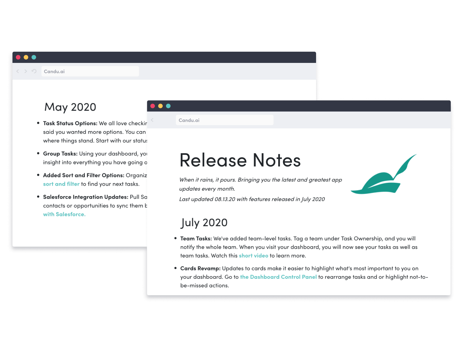 Product marketing with content management system. Discover features like customizable release notes, changelogs, and notification centers for product marketing CMS