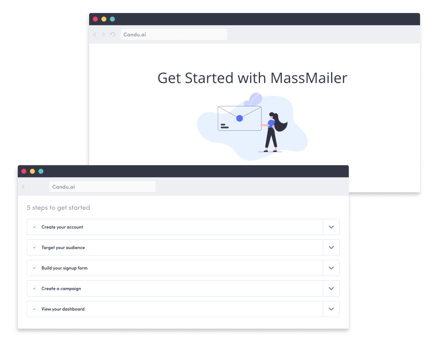 Use Candu's drag-and-drop web builder to create the best customer onboarding processes and get your SaaS clients up and running.