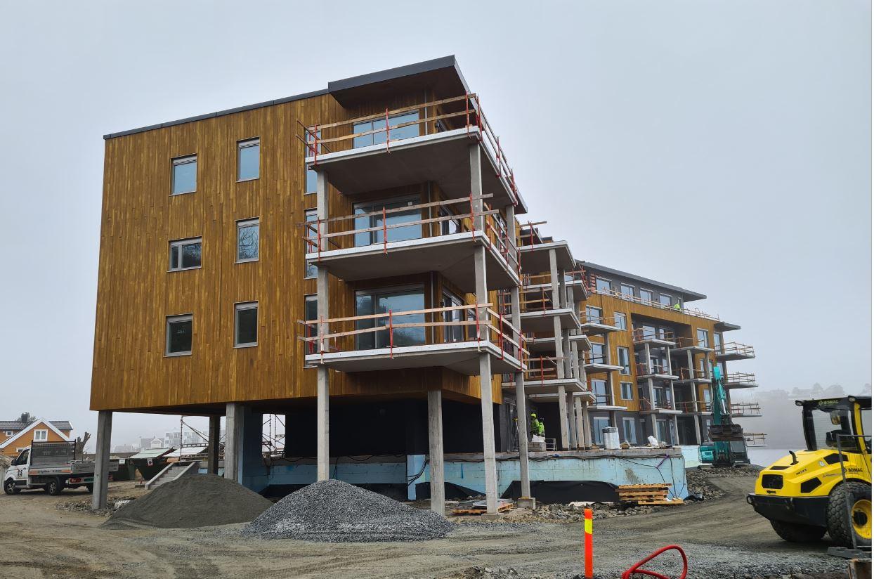 Havstadodden - Fremdrift på byggeplass