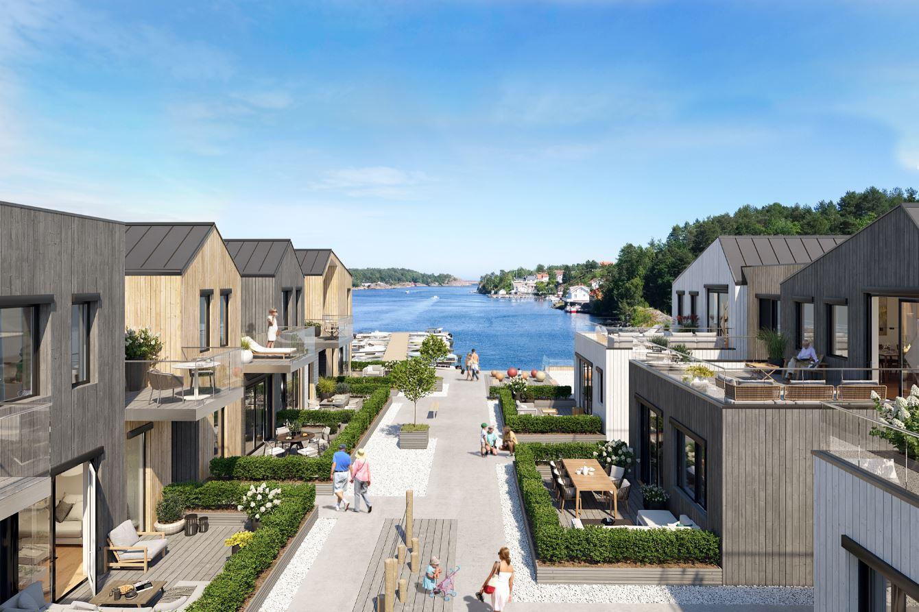 Holmen, Kilsund - Fremdrift på byggeplass