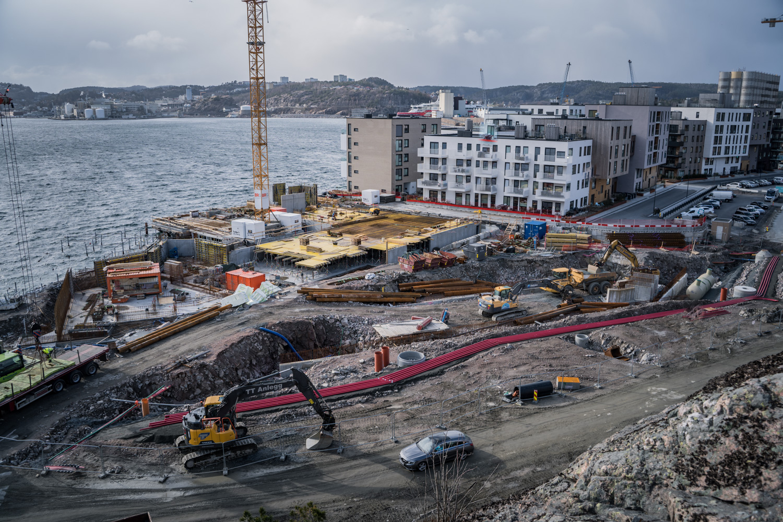 Kanalbyen 2C -Fremdrift på byggeplass