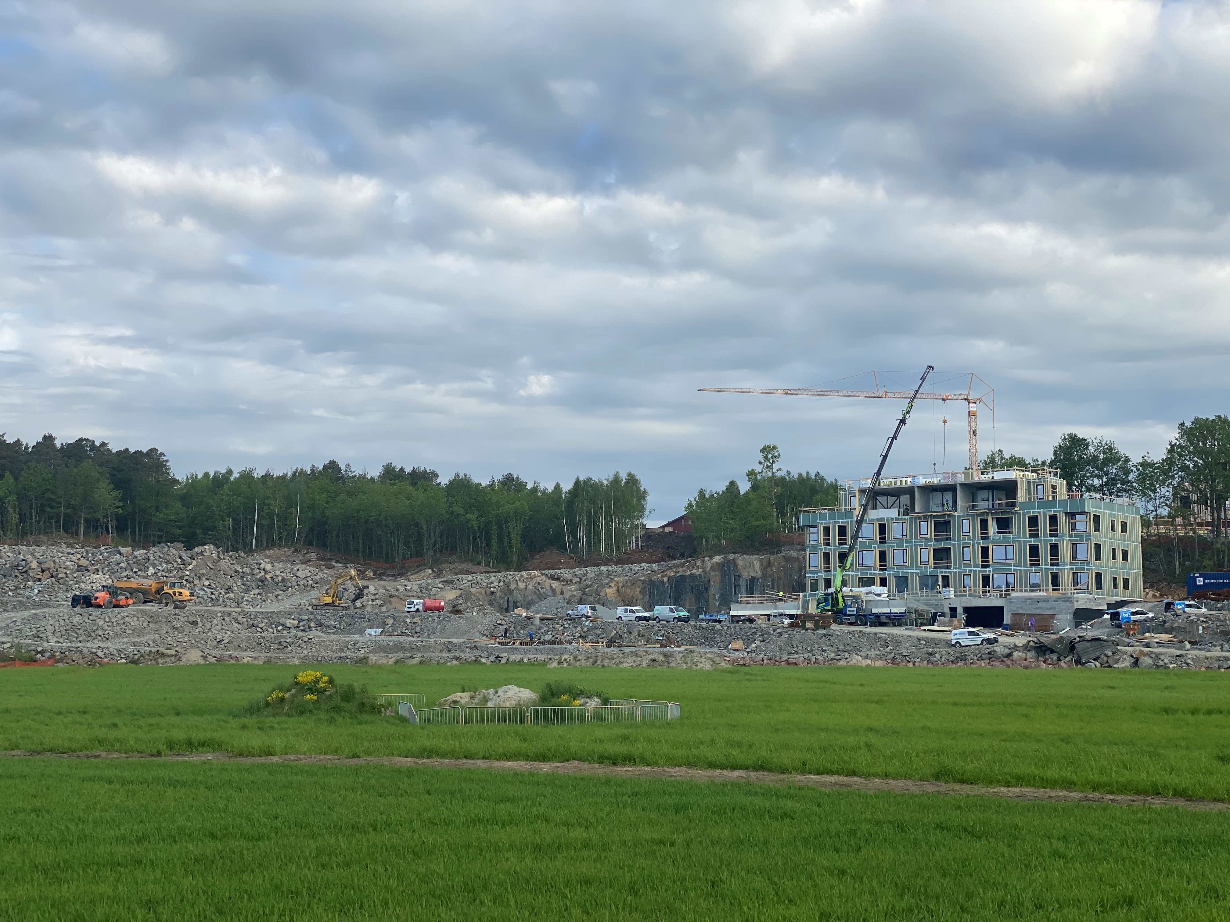 Tønnevollskogen - Fremdrift på byggeplass