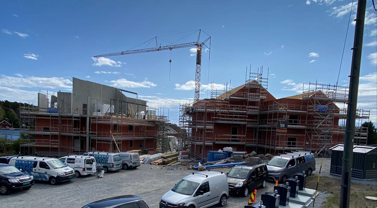Fevikpynten - Fremdrift på byggeplass