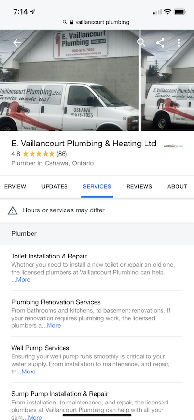 GMBServices:Vaillancourt Plumbing