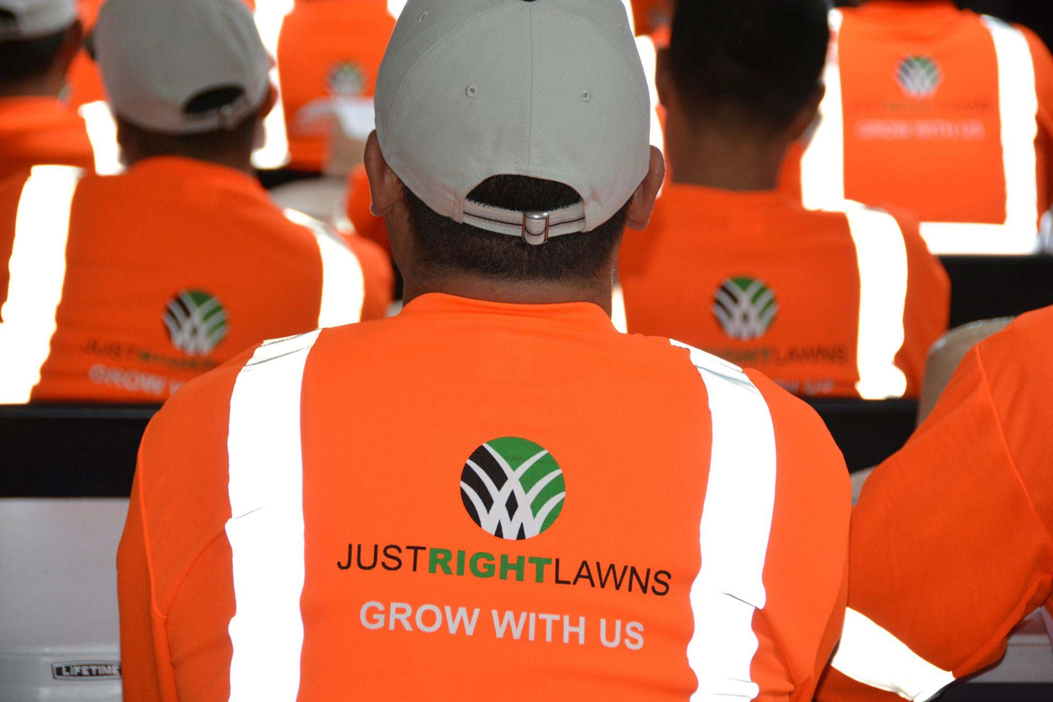 Just Right Lawns team uniform
