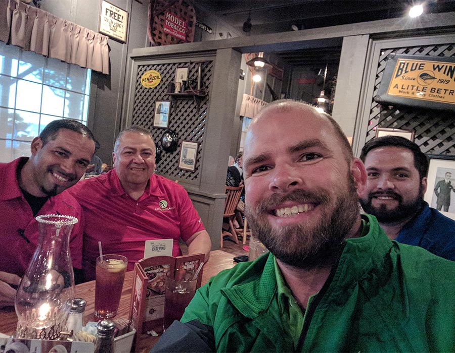Just Right Lawns team outing