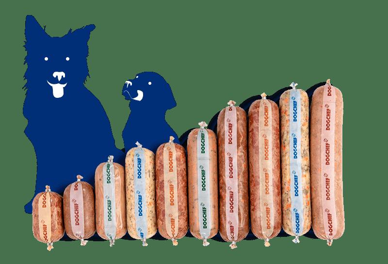 Emballage des boudins Dog Chef