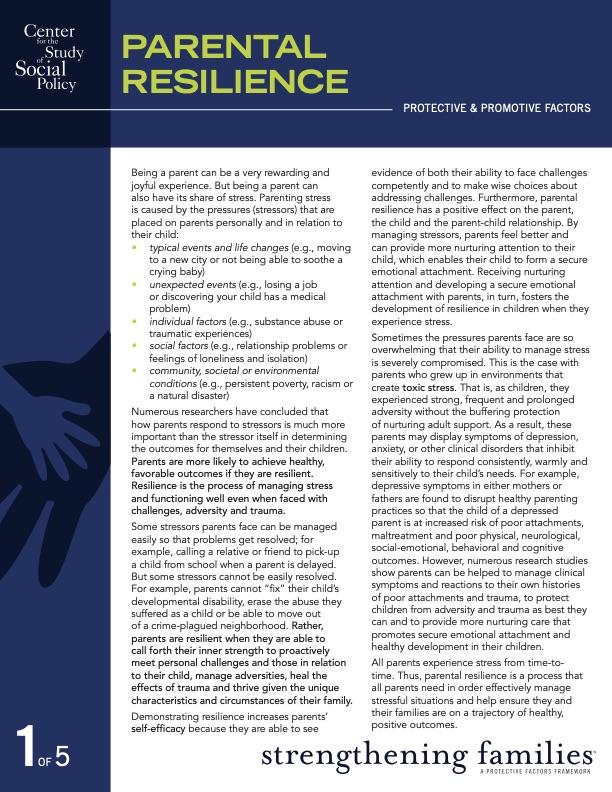 Parental Resilience: Protective & Promotive Factors