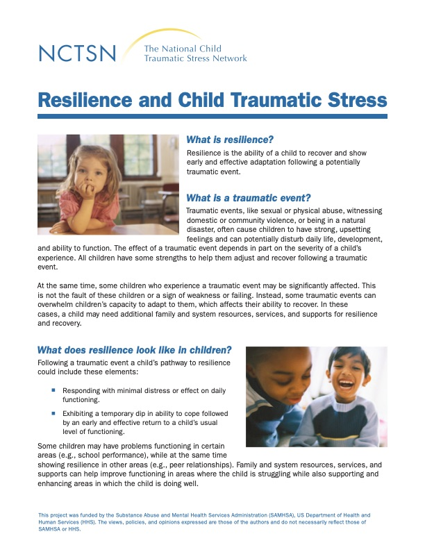 Resilience and Child Traumatic Stress