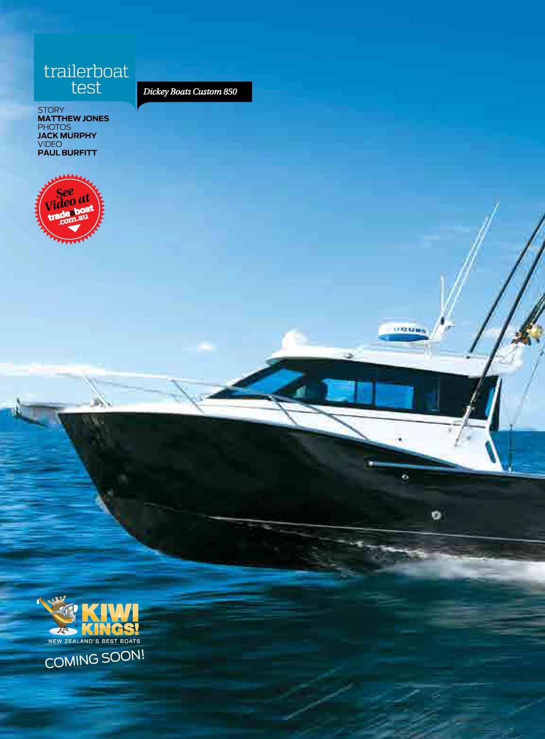 Dickey Boats Custom 850 review - TradeaBoat Oz