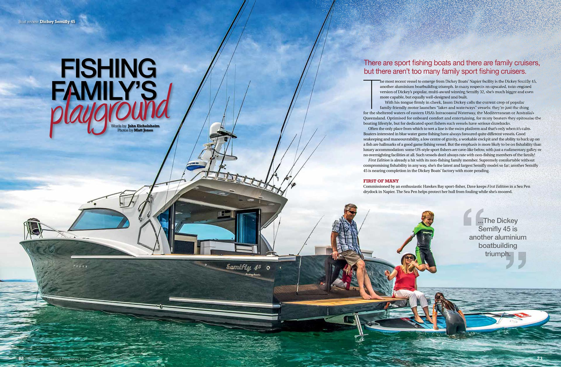 Dickey Semifly 45 review - Boating NZ