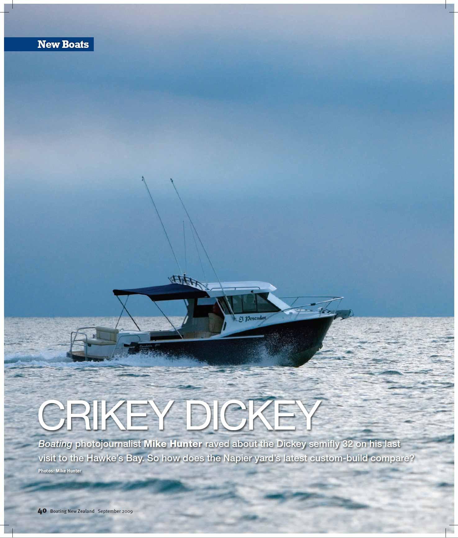 Dickey Custom 800 review - Boating NZ (2009)