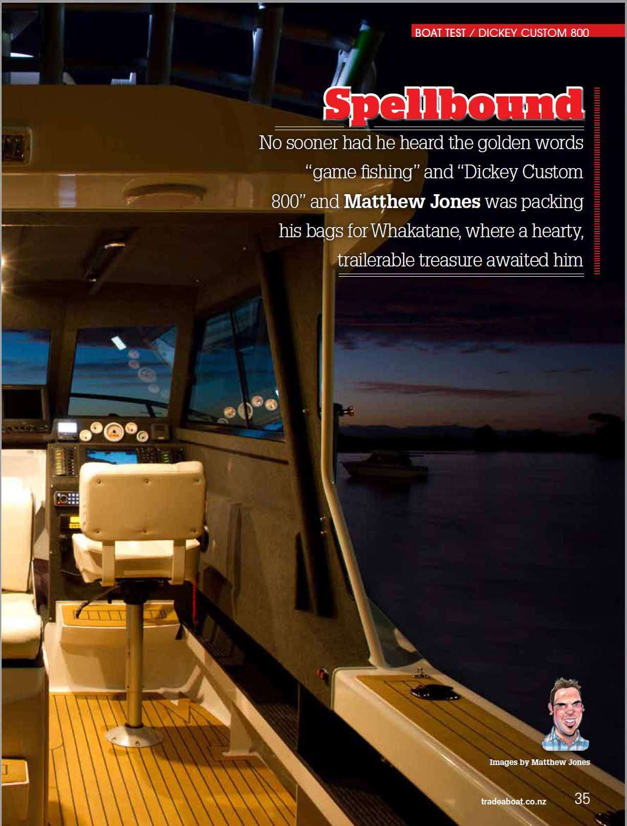 Dickey Custom 800 review - Tradeaboat