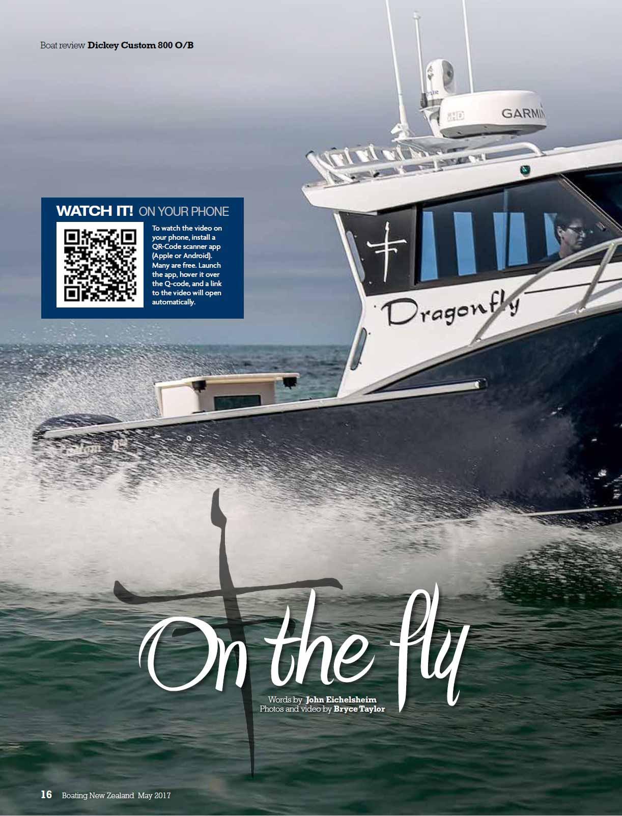 Dickey Boats Custom 800 review - Boating New Zealand (2017)