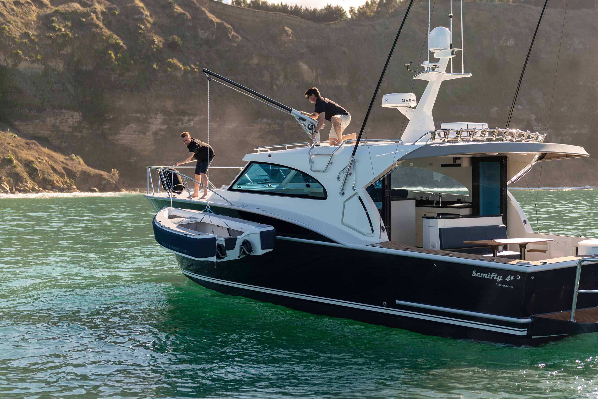 Dickey Semifly 45 review excerpts - Boating NZ Jan 2021