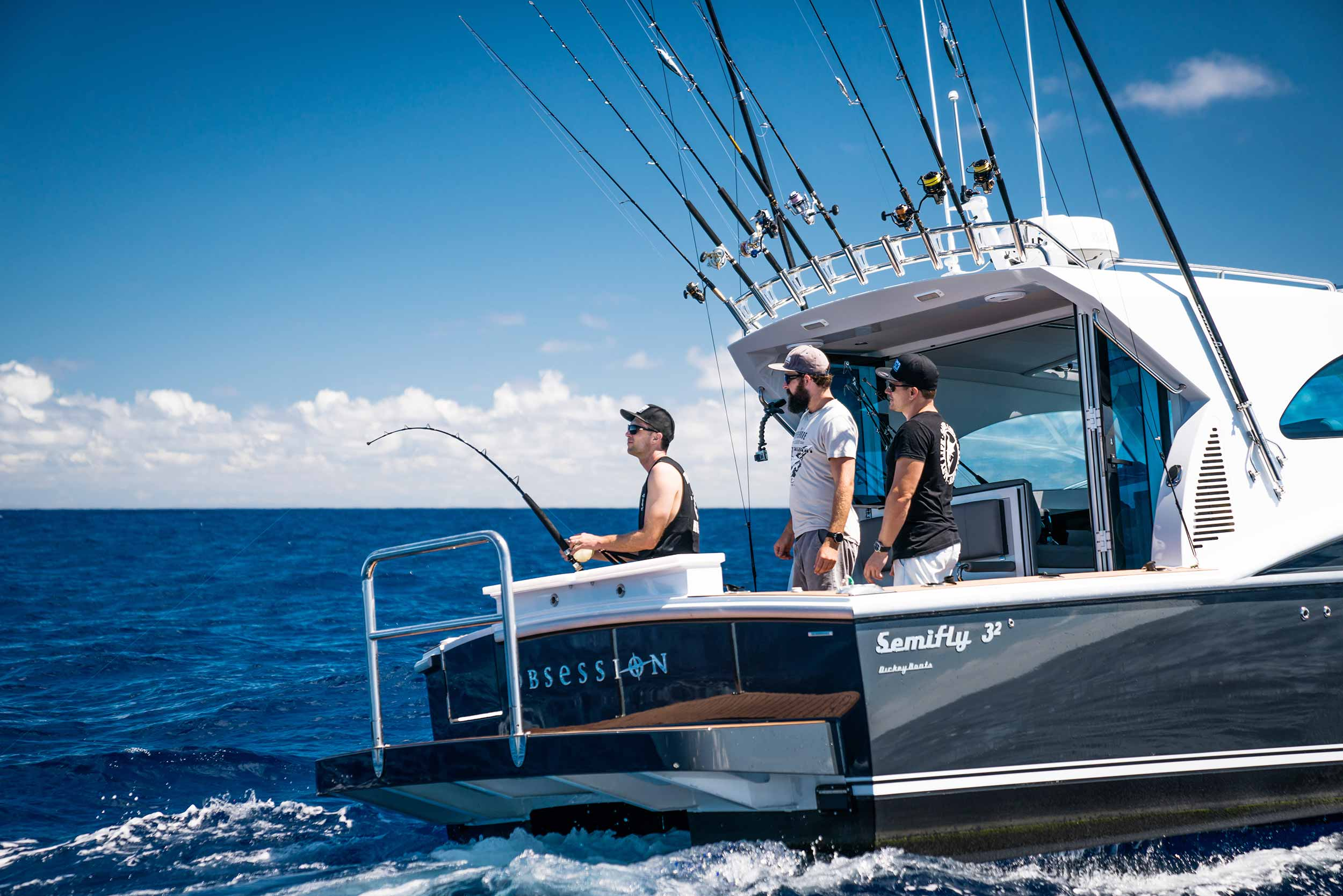 Dickey Semifly 32 on blue marlin Port Stephens