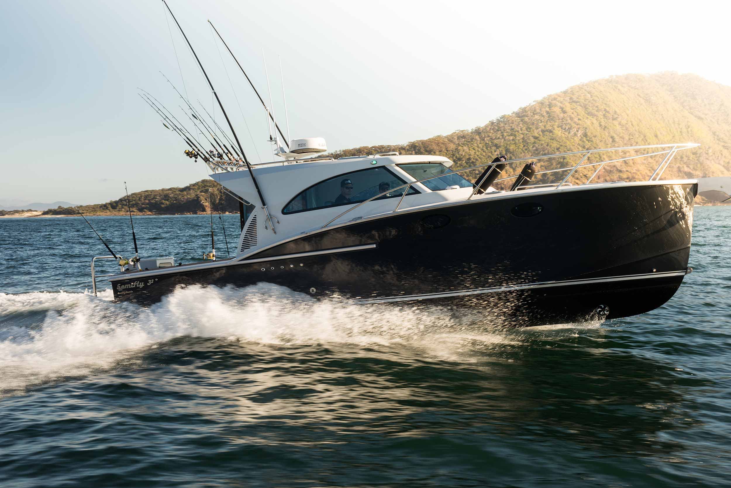 Dickey Boats Semifly 32 Port Stephens headland