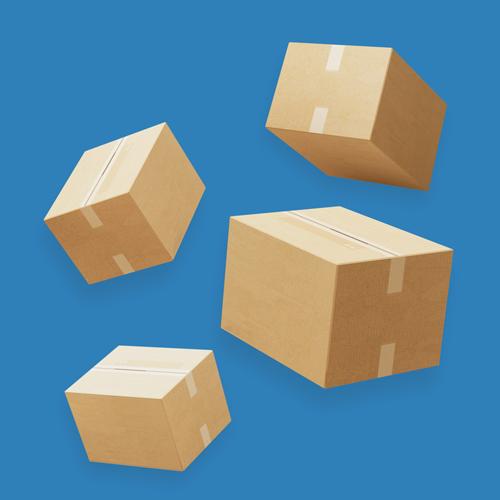 Esker som symboliserer logistikk