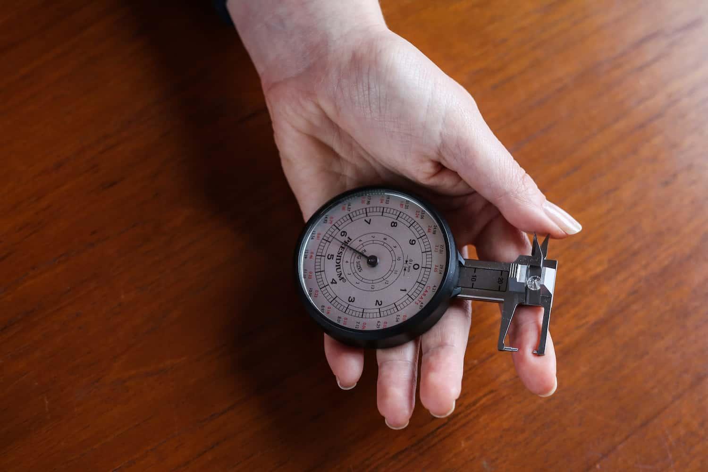 A diamond in a measurement device