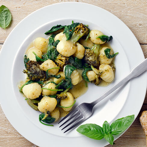 Pesto and Broccoli Gnocchi